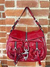 FRANCESCO BIASIA Genuine Shoulder Handbag Red Patent Leather
