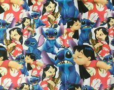 Blue Fabric with cross stitch 100/% cotton  fat quarters Monkey Mates 9616