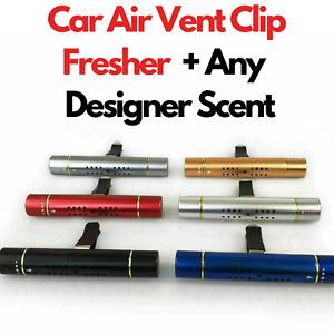 Car Air Vent Clip Freshener - Perfume Diffuser + Fine & Designer Fragrances