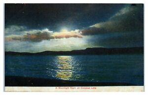 Moonlight Night on Conesus Lake, NY Postcard *6S(4)22