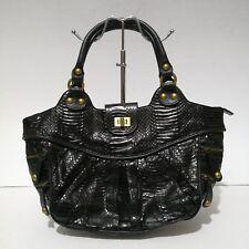Liberation Genuine Black Python Leather Shoulder Bag: On Sale