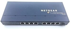 Netgear 8 Port Dual Speed Hub Model DS108 Ethernet with Power Cord Works