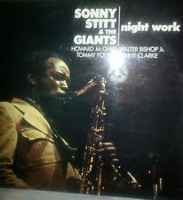 SONNY STITT 'NIGHT WORK'' Vinyl LP Album Record- BLP 30154 -BLACK LION-1974