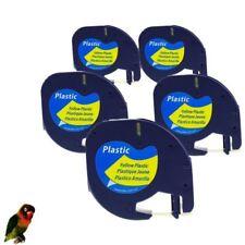 5x DYMO LetraTag Label Maker Plus LT100H LT100T LetraTag QX50 noir-jaune