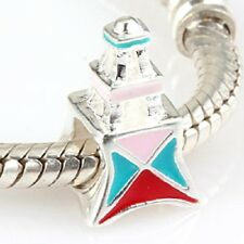 Genuine 925 Solid Sterling Silver Eiffel Tower Charm Bead.