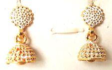 TINY Golden Oxidize Earring Jhumka Jhumki Wedding Ethnic Jewelry Drop Dangle 145