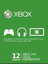 Microsoft Xbox LIVE 12 Month Gold Membership Digital Code INSTANT DISPATCH