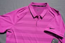 Nike Golf Zonal Cooling Casual Polo Shirt. Striped Pink, Men's XL. NWT $75!!
