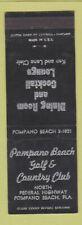 New listing Matchbook Cover - Pompano Beach Golf Country Club FL