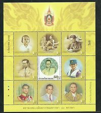 Thailand 2007 MNH Sheet 80th Birthday King Bhumibol