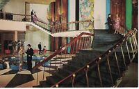 Postcard NY Concord Hotel Catskills Chrome interior Stairs VTG 60s Clothes Blue