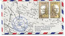 1975 Flown Yellowknife to Coppermine Canada Northward Air Polar Flight Cover