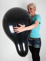 """5 x Qualatex 24"""" schwarze Riesen-Luftballons * Q24 * BLACK *"""