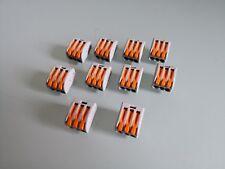 10 x WAGO Verbindungsklemme 222-413 Wago Klemme 10 Stück Anschlußklemme WAGO