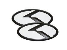 3D K Logo White & Black Edition Emblem 2pc SET (Fits: KIA 2020+ Telluride)