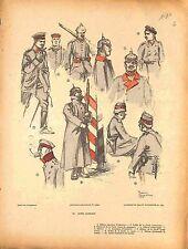 Officier Uniforme Armée Allemande Feldgrau Deutsches Heer de Fouqueray 1914 WWI
