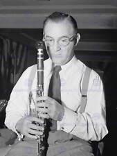 FOTO D'EPOCA RITRATTO Musica Jazz Clarinetto Benny Goodman poster stampa bb12393b