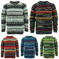 Wool Jumper ABSTRACT Chunky Knit Knitted Sweater Pullover Raglan Crew Neck