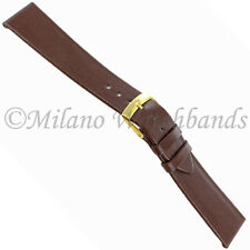 19mm Morellato Genuine Leather Unstitched Flat Brown Watch Band w/ Defect  116