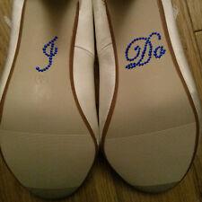 Hago Diamante Cristal Estrás Boda Zapato Pegatina Calcomanía-Royal Blue