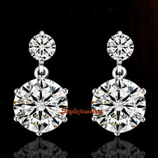 925 Sterling Silver Made with Swarovski Crystal Bridal Wedding Earring IE91