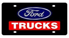 New Ford Trucks Red Logo Acrylic License Plate