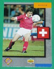 FOOTBALL CARD UPPER DECK 1994 USA 94 PIERRE CHAPUISAT SUISSE HELVETIA SCHWEIZ