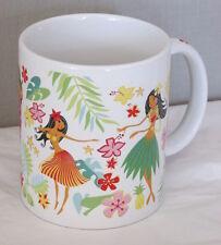 Island Hula Honeys coffee mug tea cup Hawaiian tropcial floral pin up 10 oz