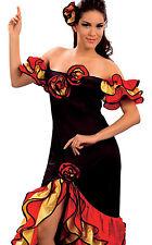 Rumba Lady Woman Spanish Salsa Flamenco Mexican Dancer Fancy Dress 10 12 14