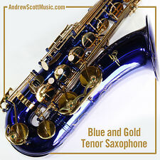 Tenor Saxophone, Blue, New in Case - Pro Quality