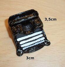 machine à écrire miniature, métal, noir, maison de poupée,dollshouse ****C3e