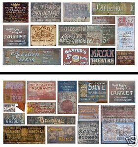 HO Scale Ghost Sign 2-Pack #16 - Great for Weathering Buildings & Structures!