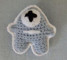 "Amigurumi Hand Crocheted Wallykazam Cyclops Squeaky Toy 5"" Doll Made to order"