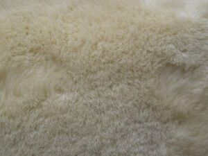 "Australian Sheepskin Shearling:1"" Bone Color 8.50 sq ft (78-11-002-X1180) EB"