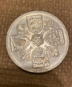 Queen Elizabeth II Coronation 1953 Crown Coin 5 Five Shillings