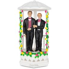Two Grooms Gay Wedding Cake Topper!