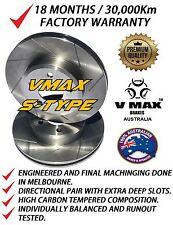 SLOTTED VMAXS fits JAGUAR E Type V12 4.2L 1968-1974 FRONT Disc Brake Rotors