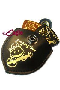 Ukulele / Uke Banjo Jumping Cow Leather Pouch and Pick Set- Great Gift