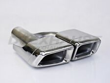 PAIR DIFFERENT TRENDS DT-24138 L&R DUAL DOUBLE WALL SQUARE STAINLESS EXHAUST TIP