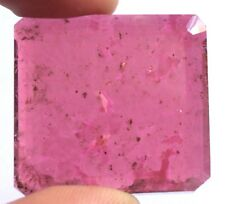 189.00Ct Natural Rubellite Tourmaline Gemstone 37X34X11mm Radiant Flat Cut S100