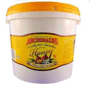 Yellow Box honey, 3 kilo tub, free shipping, Archibalds, 100% Australian honey