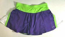 Champion Womens XL Skort Athletic Tennis Skirt Shorts Purple Neon Lume Green Wh