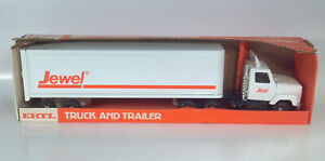 "Ertl International Jewel Semi Truck and Trailer 19"" Steel Scale Model HTF"