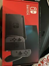 Sealed Nintendo Switch 32GB Version 2 Console with Gray Joy-Con In Hand