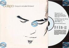 PASCAL OBISPO CE QUE L'ON VOIT ALLEE RIMBAUD CD SINGLE