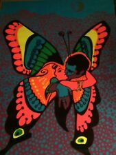 Love Is A Beautiful Butterfly 1971 Classic Vintage Blacklight Poster Rare Origi