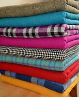 Harris Tweed Fabric & Labels VARIOUS COLOURS & SIZES craft herringbone tartan 2