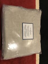 Williams Sonoma Chambers Washed Linen Solid KING Beige Sheet Set NWT