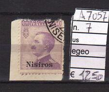 FRANCOBOLLI COLONIE EGEO NISIROS USATI N°7 (A7057)
