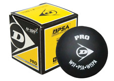 Dunlop Pro Double Yellow Dot Squash Balls (3 Ball Tube) - Authorized Dealer